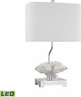 Dimond D3027-LED Prince Edward Island White / Polished Nickel LED Table Lamp