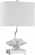 Dimond D3027 Prince Edward Island White / Polished Nickel Side Table Lamp