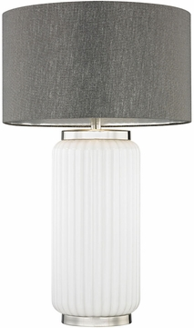 Dimond D3043 McCall White Polished Nickel Side Table Lamp