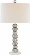 Dimond D3046 New Caledonia Silver Leaf / White Marble Table Light