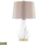 Dimond D3091-LED Vicenza Gold / White Faux Marble LED Table Lamp