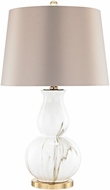 Dimond D3091 Vicenza Gold / White Faux Marble Side Table Lamp