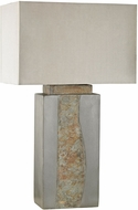 Dimond D3098 Mus�e� Grey / Natural Slate Outdoor Table Top Lamp