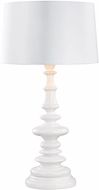 Dimond D3100W Corsage Gloss White Outdoor Side Table Lamp