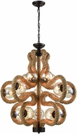 Dimond D3108 Maestro  Modern Natural Rope Lighting Chandelier