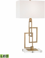 Dimond D3127-LED Duet  Antique Brass LED Table Lamp Lighting
