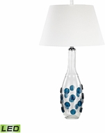 Dimond D3163-LED Confiserie  Clear / Blue LED Table Lamp