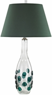 Dimond D3166 Confiserie Clear / Green Table Top Lamp