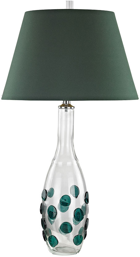 Dimond D3166 Confiserie Clear / Green Table Top Lamp. Loading Zoom