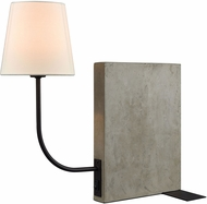 Dimond D3206 Sector Modern Concrete / Oil Rubbed Bronze Table Lamp