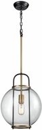 Dimond D3229 Faraday Modern Aged Brass Black Hanging Lamp