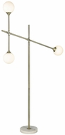 Dimond D3261 Trousedale Contemporary Aged Brass Frosted White Floor Light