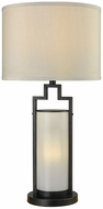 Dimond D3291 San Rafael Oil Rubbed Bronze Milk Glass Exterior Table Top Lamp
