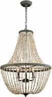 Dimond D3307 C�te des Basques Pebble Grey Natural Shell Hanging Light