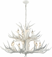 Dimond D3318 Big Sky Modern White Chandelier Lamp