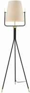 Dimond D3367 Cromwell Modern Black Brass Floor Lamp Light