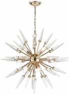 Dimond D3369 Valkyrie Gold Clear Crystal Chandelier Light
