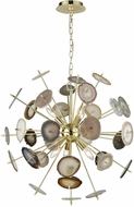 Dimond D3370 Galileo Contemporary Bright Gold Natural Agate Ceiling Chandelier