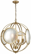 Dimond D3371 Le Style M�tro Modern Gold Antique Mercury Hanging Chandelier
