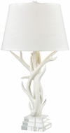 Dimond D3468 Svalbard Matte White with Clear Crystal Table Lamp Lighting