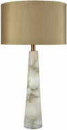 Dimond D3475 Champagne Float Alabaster Weathered Antique Brass Table Lighting