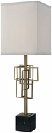 Dimond D3476 Hollywood Squarze Weathered Antique Brass Black Marble Lighting Table Lamp