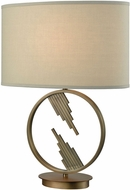 Dimond D3484 Empire Statement Weathered Antique Brass Side Table Lamp