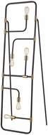 Dimond D3551 Think Tank Modern Gold Plated Metal And Black LED Floor Lamp Light