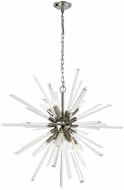 Dimond D3567 Ice Geist Polished Nickel Clear Crystal Chandelier Lighting