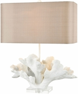 Dimond D3588 Schooner Cay Matte White And Clear Crystal Table Lamp