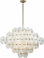 Dimond D3597 Cash Modern Antique Silver White Matte Ceiling Pendant Light
