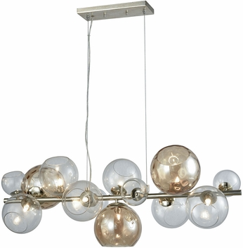 Dimond D3599 Bubble Modern Silver Leaf Halogen Kitchen Island Light Fixture