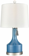 Dimond D3627 Bon Vivant Olympian Blue And Polished Nickel Table Light