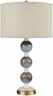 Dimond D3640 Joyaux Cafe Bronze, White Marble And Marine Glass Table Lighting