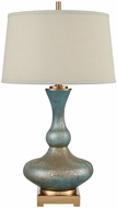 Dimond D3641 Xuclar Cafe Bronze And Shoreline Green Art Glass Lighting Table Lamp