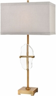 Dimond D3645 Priorato Cafe Bronze And Clear Crystal Side Table Lamp