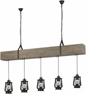 Dimond D3683 Sutter'S Mill Salvaged Grey Wood With Black Island Light Fixture