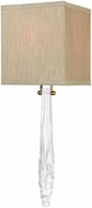 Dimond D3689 Melt Down Contemporary Clear And Aged Brass Wall Sconce Lighting