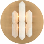 Dimond D3690 Annees Folles Modern White And Aged Brass Wall Light Fixture