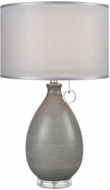 Dimond D3792 Clothilde Grey Glaze With Clear Acrylic Table Lamp Lighting