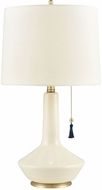 Dimond D3794 Curieux Cream And Gold With Navy Tassel Table Top Lamp