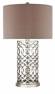 Dimond HGTV337 London Polished Nickel    Finish 18 Wide Table Top Lamp
