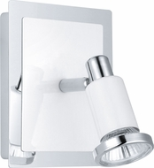 EGLO 200096A Eridan  Contemporary Chrome & Shiny White Halogen Wall Sconce