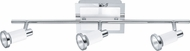 EGLO 200097A Eridan  Modern Chrome & Shiny White Halogen 3-Light Track Light