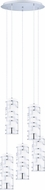 EGLO 200226A Bayman Modern Chrome Multi Pendant Lighting