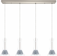 EGLO 200881A Musero Contemporary Matte Nickel LED Multi Pendant Lamp