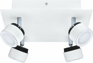 EGLO 200895A Armento Contemporary White & Black LED Ceiling Spot Light Indoor