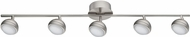 EGLO 201461A Lombes 1 Contemporary Matte Nickel LED 5-Light Track Lighting Kit