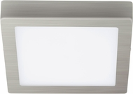 EGLO 201657A Fueva 1 Contemporary Matte Nickel LED Flush Mount Lighting Fixture