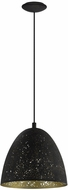 EGLO 202079A Safi Contemporary Matte Black Mini Hanging Light